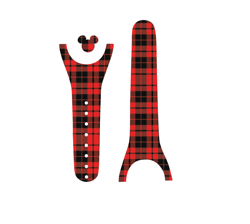 Buffalo Plaid Magic Band Decal