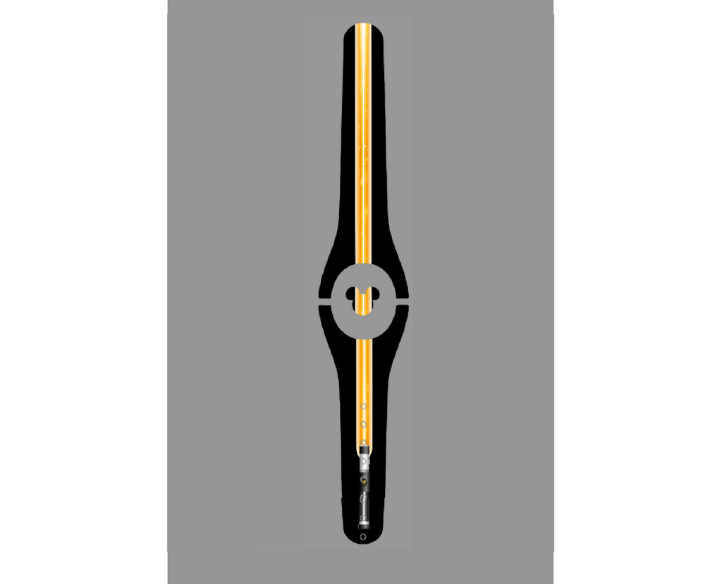 Lighted Orange Laser Magic Band Decal