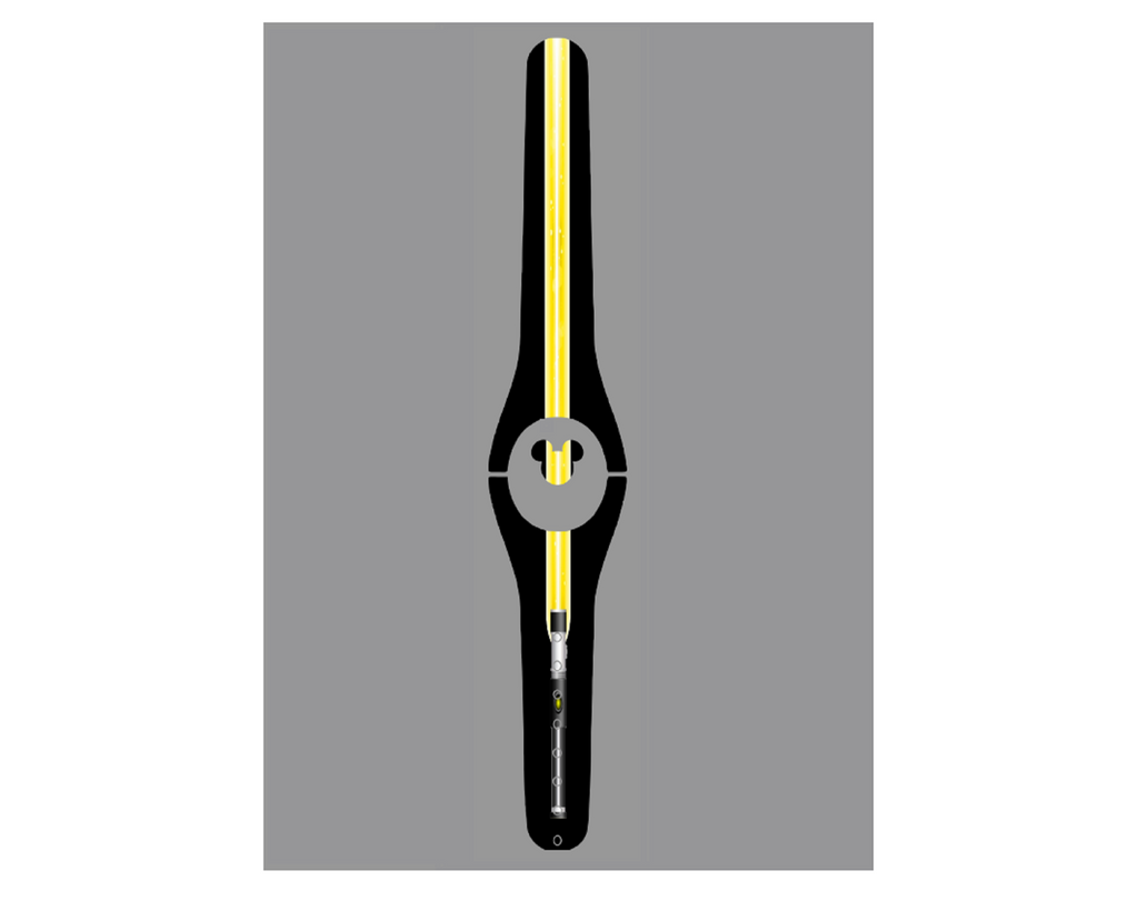 Lighted Yellow Laser Magic Band Decal