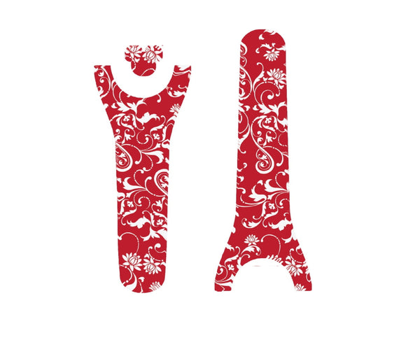 Christmas Red and White Scrolls Decal for Magic Band