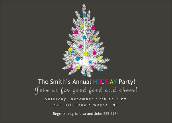 Christmas Tree Party Invitation JPEG DIY