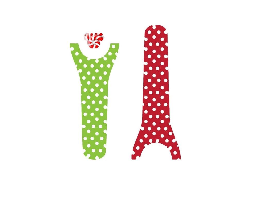 Red & Green Polka Dots Decal for Magic Band