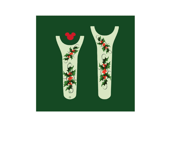 Christmas Holly Decal for Magic Band