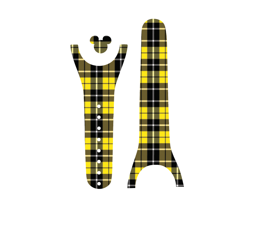 Yellow Plaid Magic Band Decal