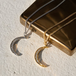 Load image into Gallery viewer, Crescent Moon Back Pendant