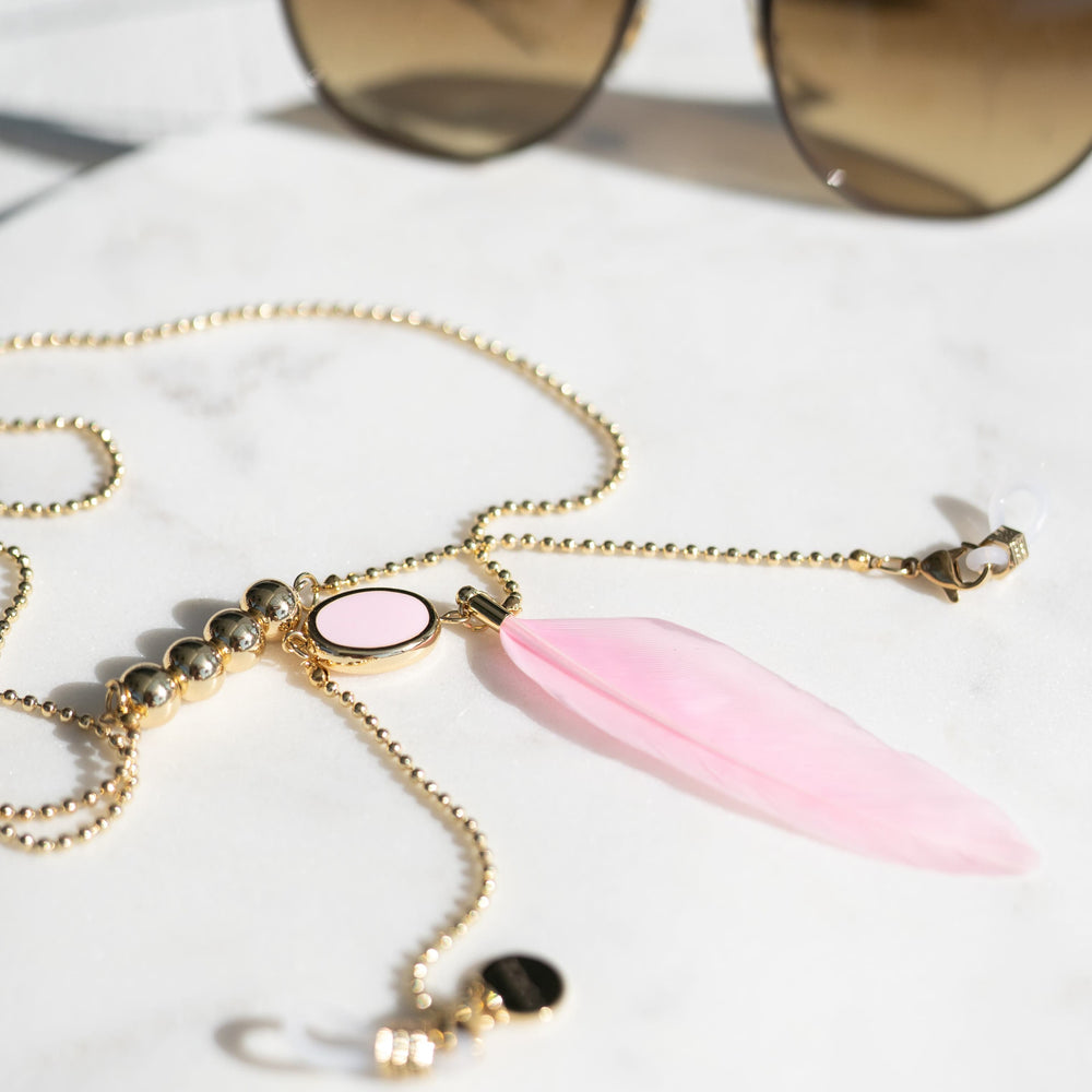 Load image into Gallery viewer, Pink Pendant Sunglass Chain