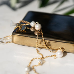 Shell Pearl Gold Sunglasses Chain