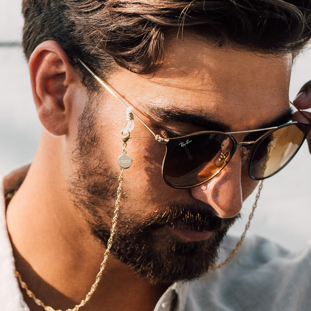 18k Gold-plated Wave Link Sunglass Chains