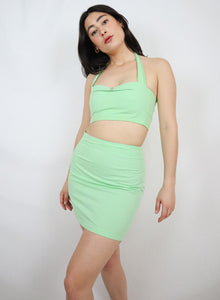 Green pin up two piece