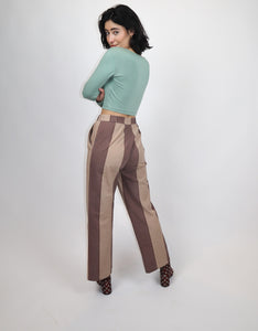 Brown stripy trousers