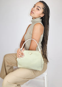 Beige nylon Prada bag