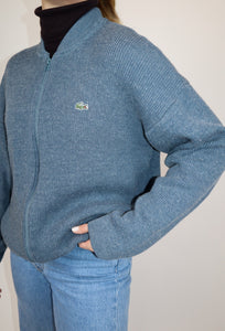 Lacoste blue zip jumper