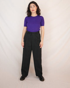 Black stripy trousers
