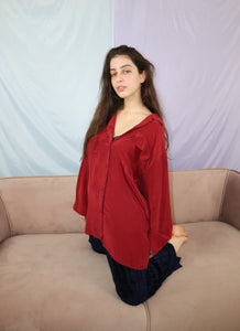 Bordeaux silk shirt