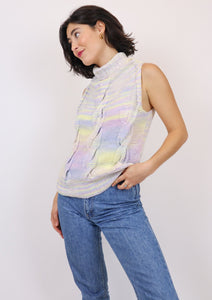 Pastel turtleneck vest jumper