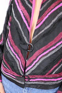 Stripy pink and purple jacket