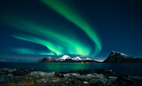 Northern lights in northern Canada