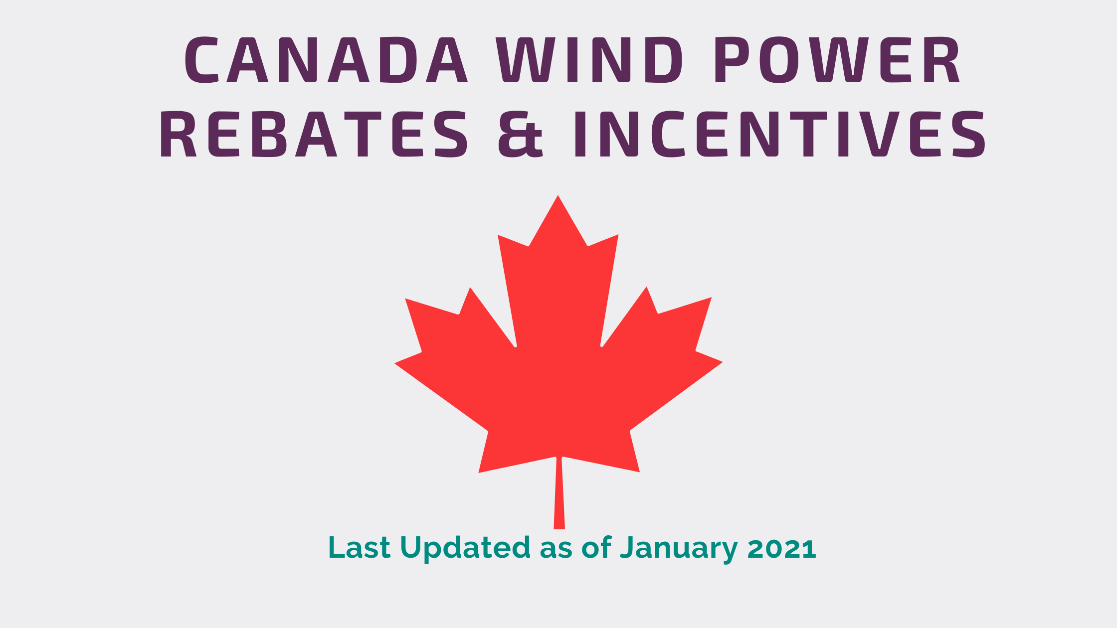 Canadian Wind Rebates