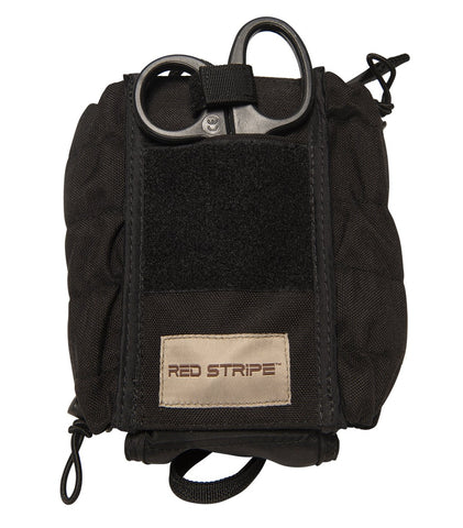 Front view of the Red Stripe™ IFAK (Individual First Aid Kit) LOADED