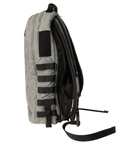 Side view including MOLLE ladder on the Red Stripe™ Lycos Shield Backpack - Waxed Cotton