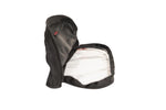 Side profile of the Red Stripe™ Accessory Window Pouch - open.