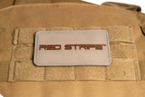 Closeup of the Red Stripe™ PVC 3D Tactical Patch attached to the Red Stripe™ Wakea Medic Backpack