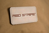 Red Stripe™ PVC 3D Tactical Patch attached to bag with velcro attachment
