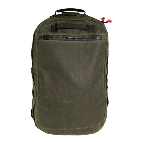 Red Stripe™ Lycos Shield Backpack - Waxed Cotton (Olive)