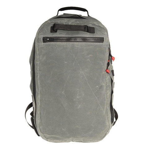 Front view of the Red Stripe™ Lycos Shield Backpack - Waxed Cotton