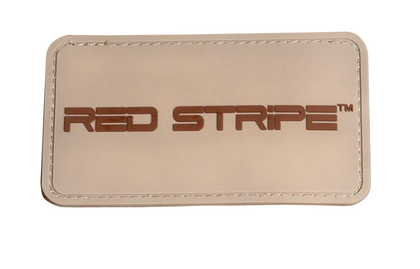 Front view of the Red Stripe™ PVC 3D Tactical Patch
