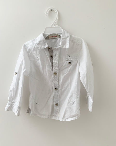 White cotton dress shirt 3y