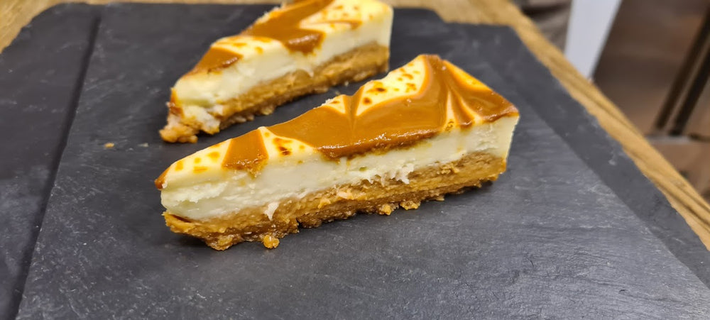 Cheesecake with salted butter Caramel