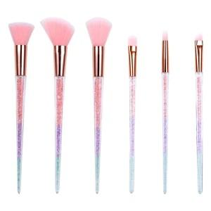 L.A. Hair and Beauty Bar Presents Makeup Brushes with Colored Crystal Handles