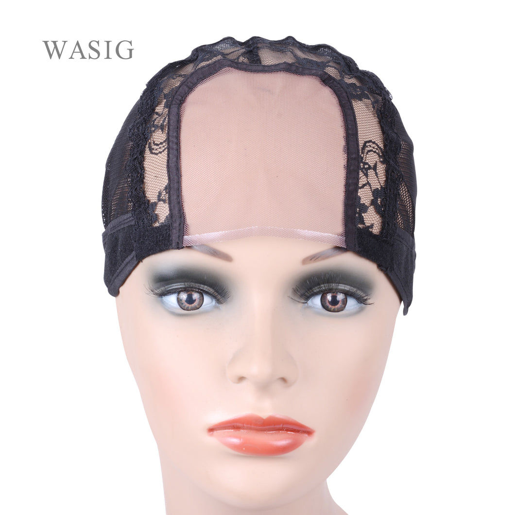 3.5 inch X 3.5 inch U Part Wig Cap for Making Wigs with Adjustable Strap
