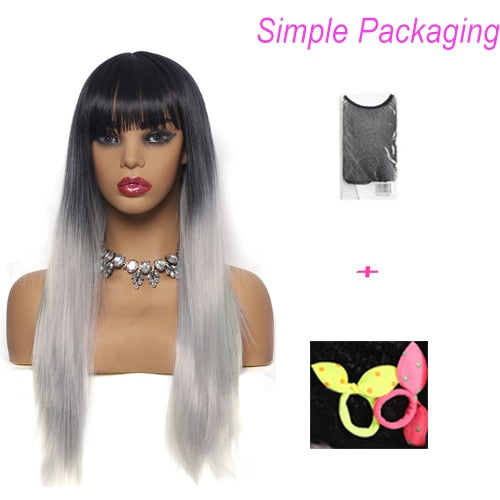 Suri Hair | 26'' Long Straight Synthetic Wigs (2-Tone)