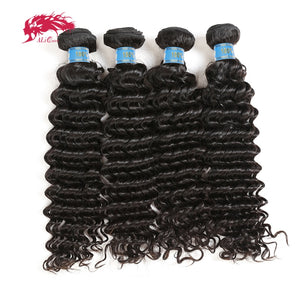 "Ali Queen Hair Peruvian Virgin Hair 12""-24"" Deep Wave 4Pcs"