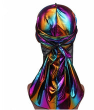 Load image into Gallery viewer, Men/Women Silk Laser Polyester Durag