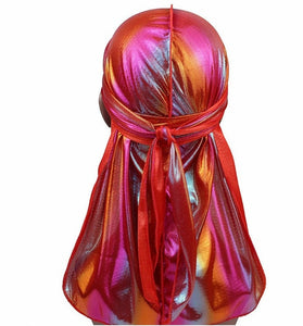 Men/Women Silk Laser Polyester Durag