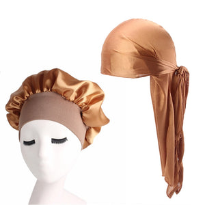 Silky Satin Durag And Bonnet 2pcs Set