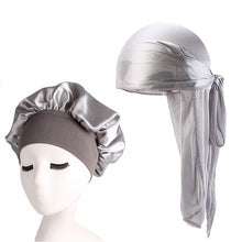 Load image into Gallery viewer, Silky Satin Durag And Bonnet 2pcs Set