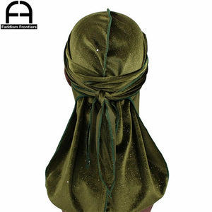 Luxury Shiny Velvet Durags Solid Color