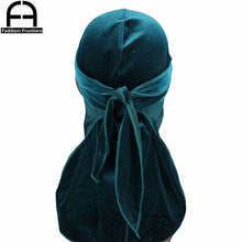 Load image into Gallery viewer, Luxury Shiny Velvet Durags Solid Color