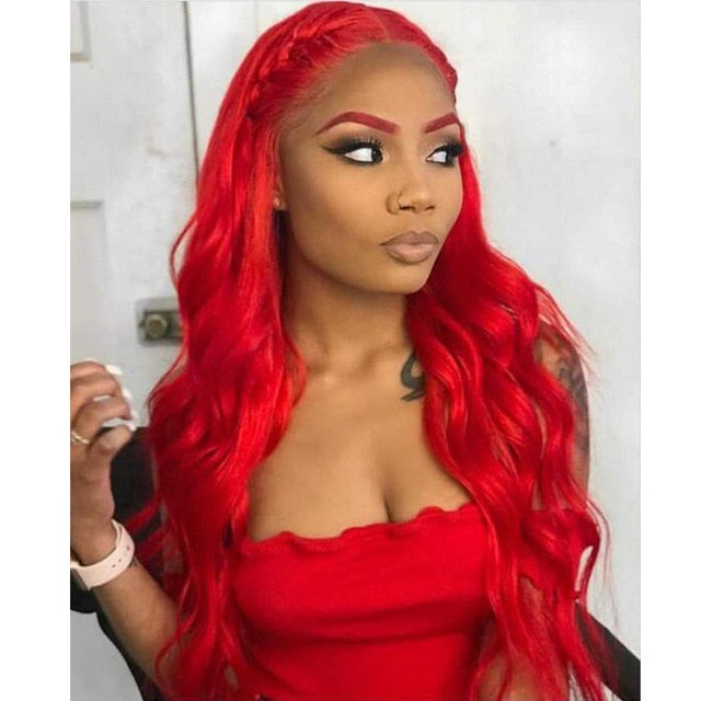 RemyBlue Hair Bundles Body Wave Bundles Red