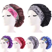 Load image into Gallery viewer, Women Bonnet Cap Salon Shower Sleep Hair Head Cover Wide Band Elastic Casual Beanies Solid Color Hat