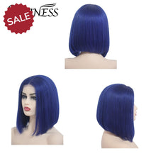 Load image into Gallery viewer, Loviness | 8-16 inch 150% Bob Lace Front Wig Blue