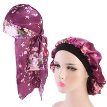 Load image into Gallery viewer, 2pcs/sets Durag And Bonnet Floral