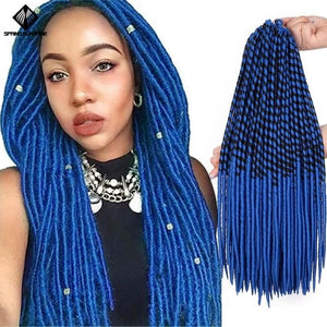 Spring Sunshine 20inch Faux Locs (Purple/Red/Blue)