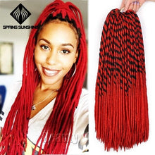 Load image into Gallery viewer, Spring Sunshine 20inch Faux Locs (Purple/Red/Blue)
