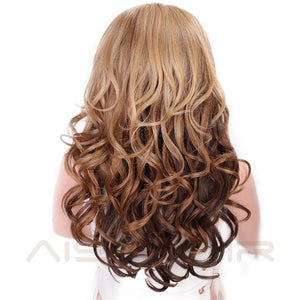 AISI HAIR | Long Wavy Black Wig