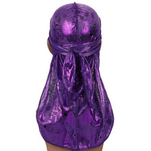 Load image into Gallery viewer, Hair Accessories Drill Silky Floral Durag